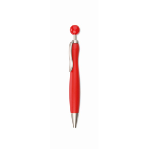 Ball Pen With Ball Plunger in red