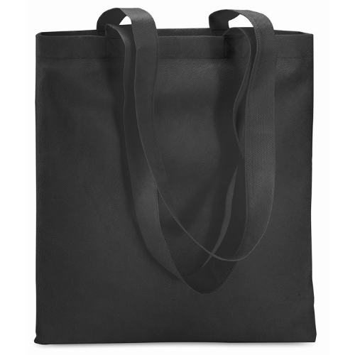 Shopping Bag In Nonwoven in black