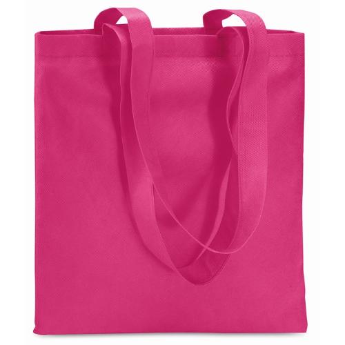 Shopping Bag In Nonwoven in fuchsia