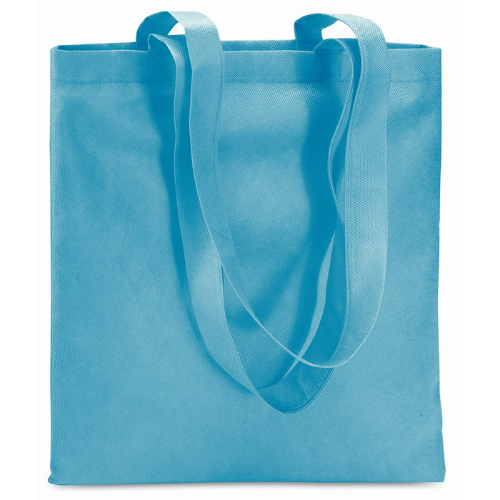 Shopping Bag In Nonwoven in turquoise