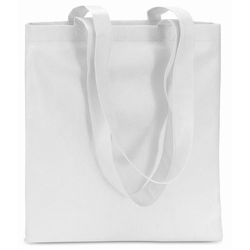 Shopping Bag In Nonwoven in white