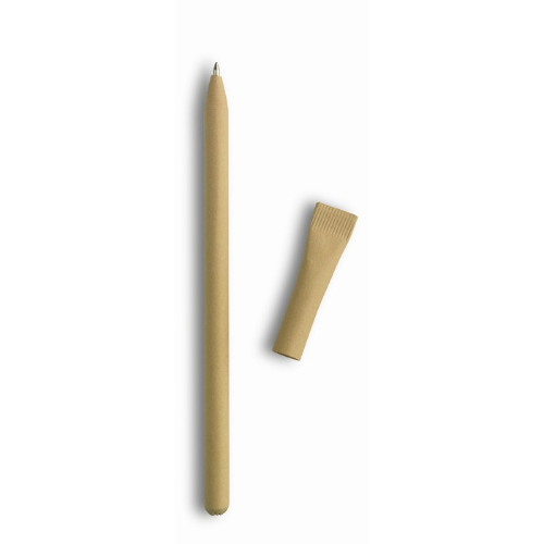 Recycled paper ball pen in beige
