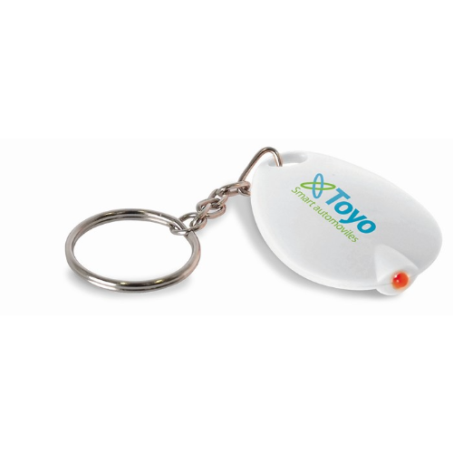 Key ring with LED light in white