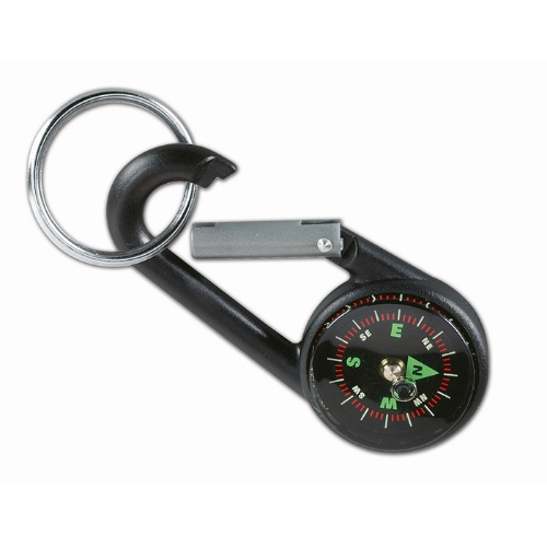 Carabiner hook with key ring