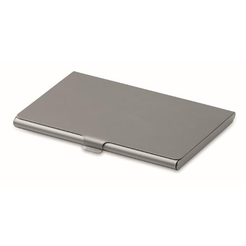 Business card holder            in matt-silver