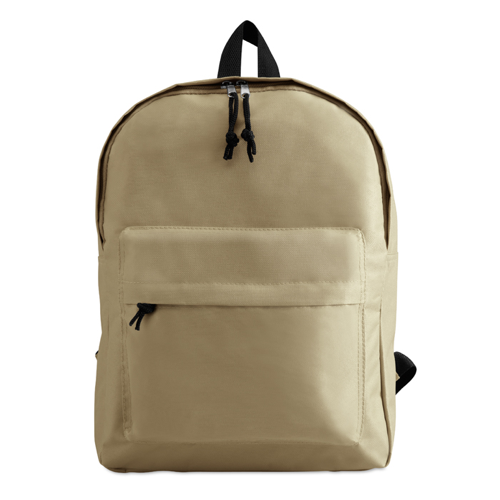 600D Polyester Backpack in beige