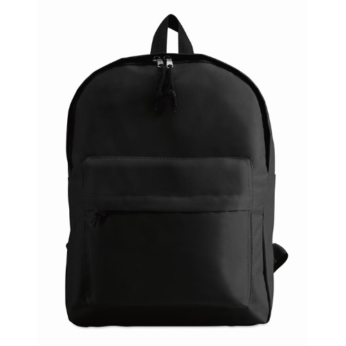 600D Polyester Backpack in black