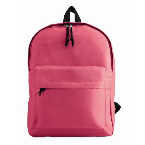 600D Polyester Backpack in fuchsia
