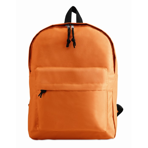600D Polyester Backpack in orange