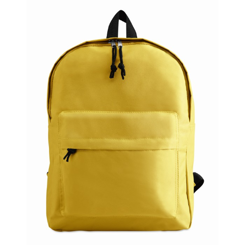 600D Polyester Backpack in yellow