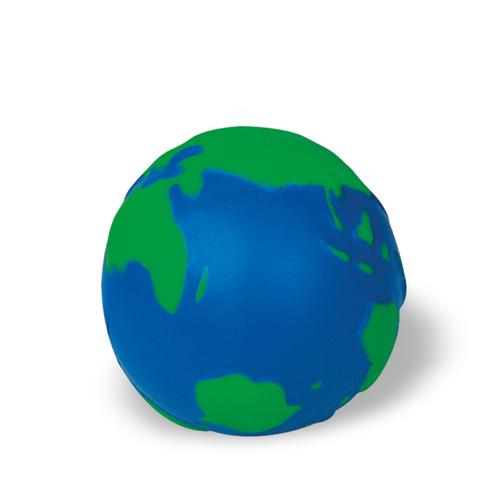 Anti-stress ball globe          in blue-and-green