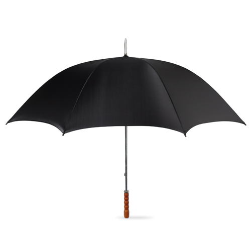 Golf Umbrella With Wooden Grip in black