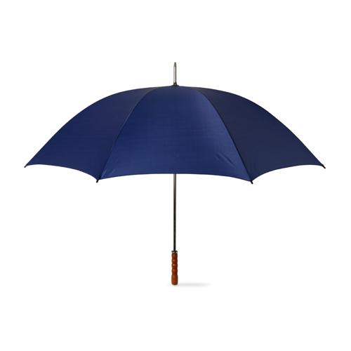 Golf Umbrella With Wooden Grip in blue