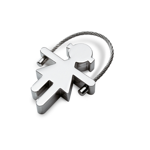 Metal Key Ring in shiny-silver