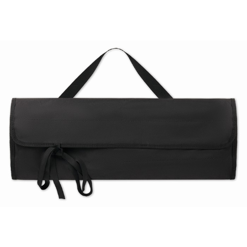 BBQ apron with BBQ tools in black