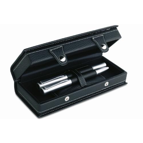 High class pen set in gift box in black