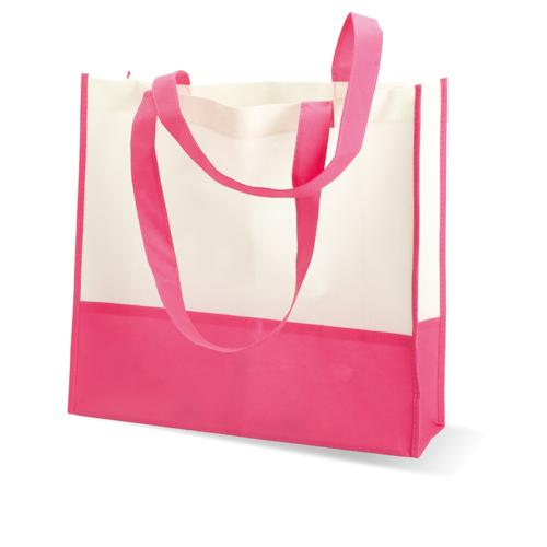 Shopping or beach bag in fuchsia