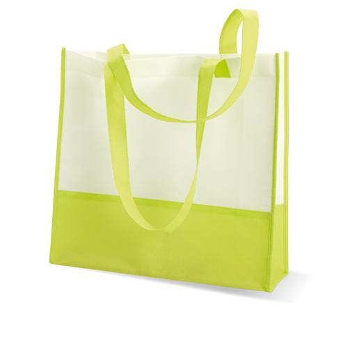 Shopping or beach bag in lime