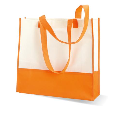 Shopping or beach bag in orange