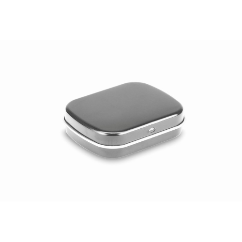 Easy tin with mints in matt-silver