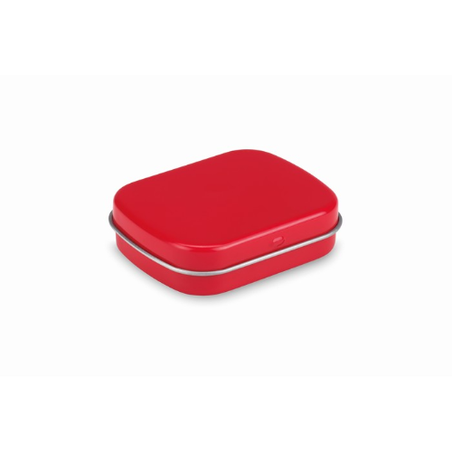 Easy tin with mints in red