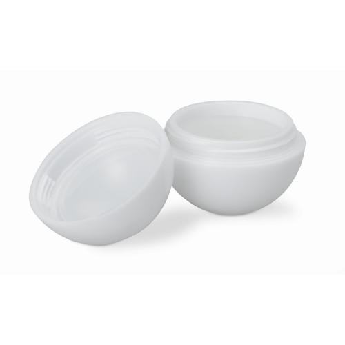 Lip balm in round box           in white