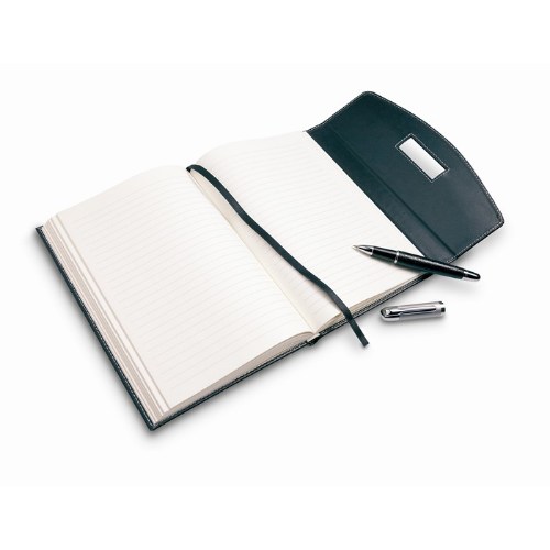 Notebook with ball pen in black