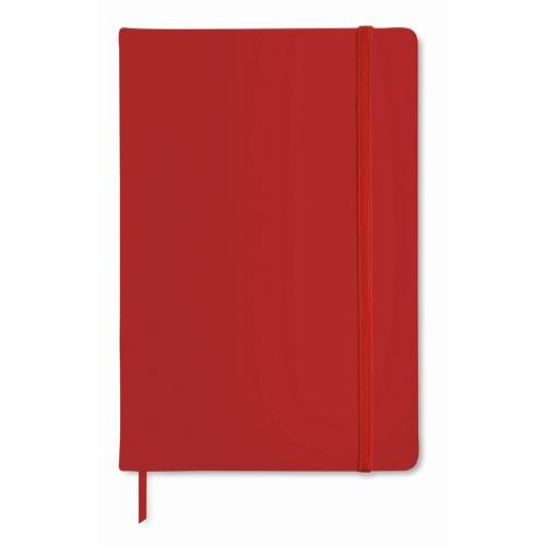 A6 notebook lined in red