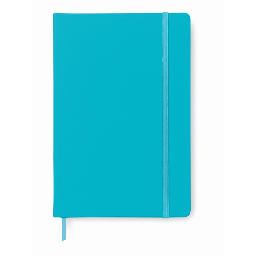 A6 notebook lined in turquoise