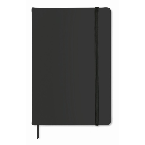 A5 notebook lined in black
