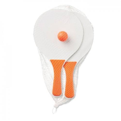 Small Beach tennis set in orange