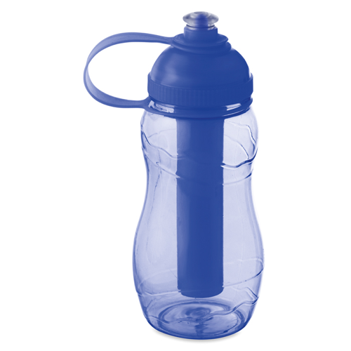 Bottle With Freezing Tube in transparent-blue