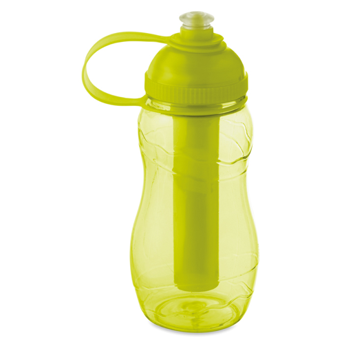 Bottle With Freezing Tube in transparent-lime