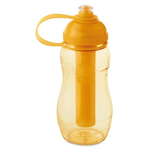 Bottle With Freezing Tube in transparent-orange