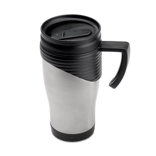 Stainless Steel Travel Mug in matt-silver
