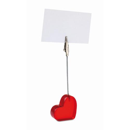 Heart shape clip                in red