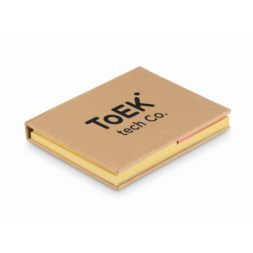 Recycled sticky note pad in beige