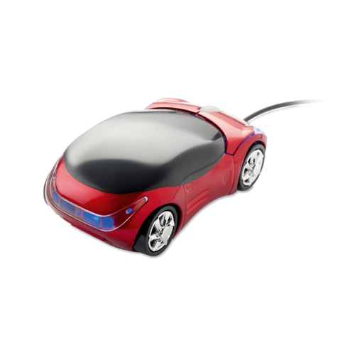 Mouse In Car Shape in red