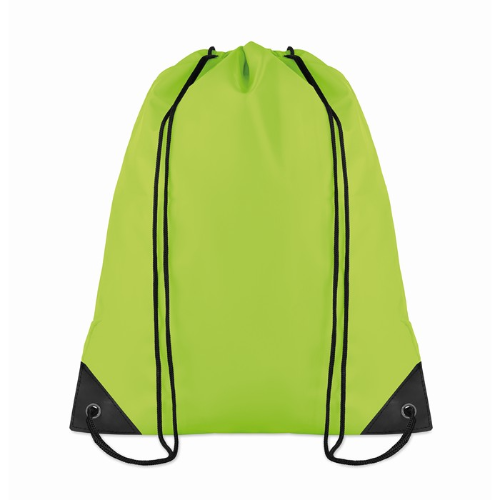 Drawstring backpack in lime
