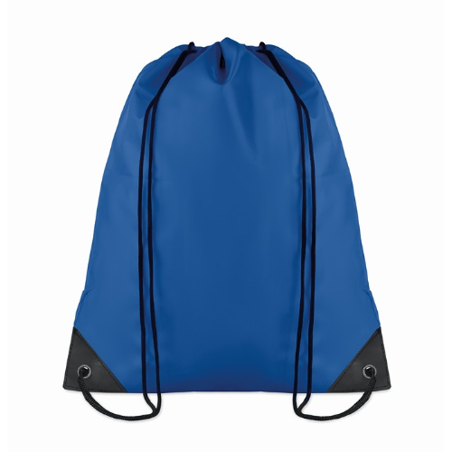 Drawstring backpack in royal-blue