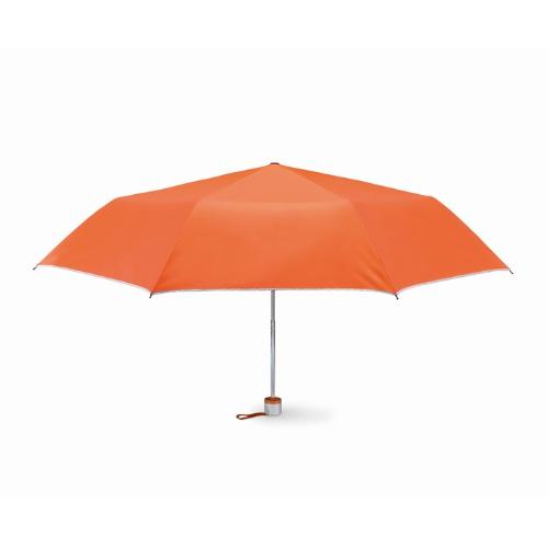 Foldable umbrella in orange