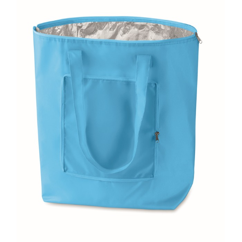 Foldable Cooler Shopping Bag in baby-blue