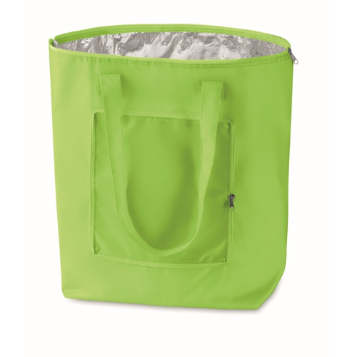 Foldable Cooler Shopping Bag in lime