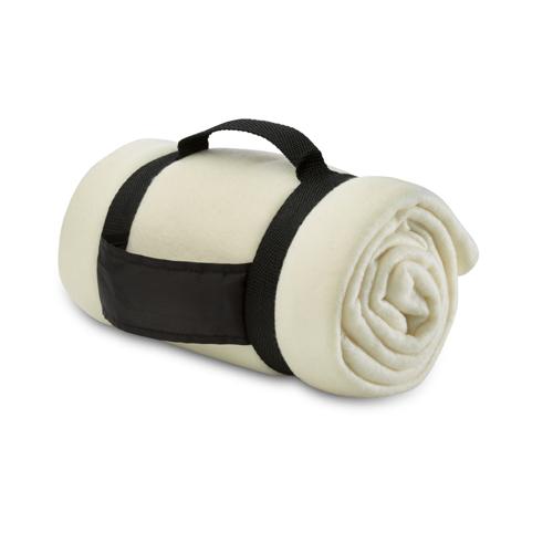 Fleece blanket                  in beige