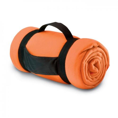 Fleece blanket                  in orange