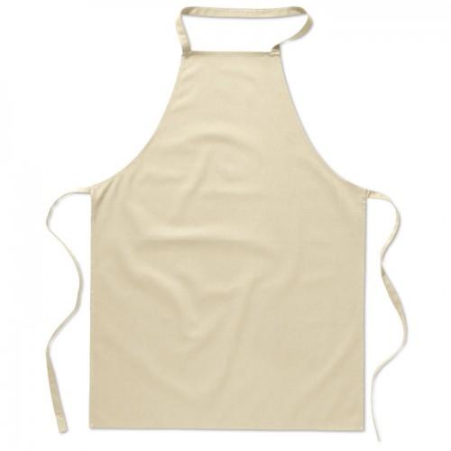 Kitchen apron in cotton         in beige