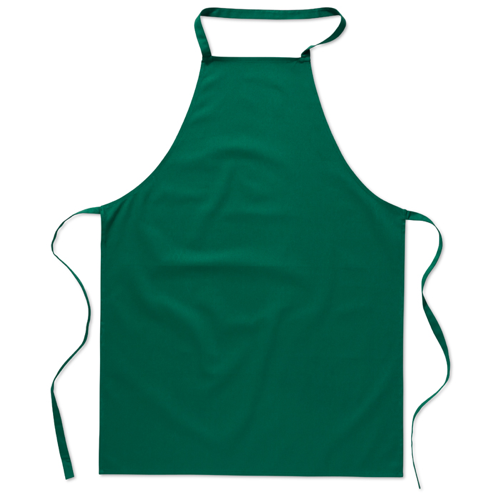 Kitchen apron in cotton         in green