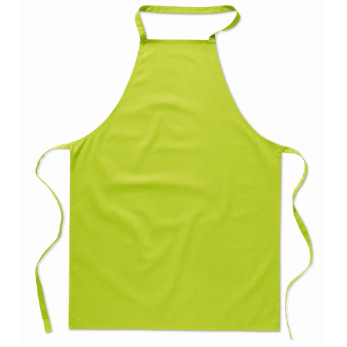Kitchen apron in cotton         in lime