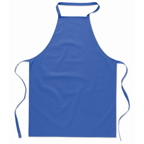 Kitchen apron in cotton         in royal-blue