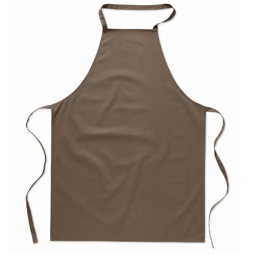Kitchen apron in cotton         in taupe
